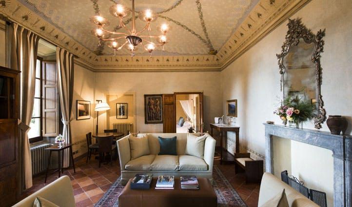 inside of luxury hotel