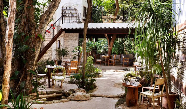 mexico hotel courtyard