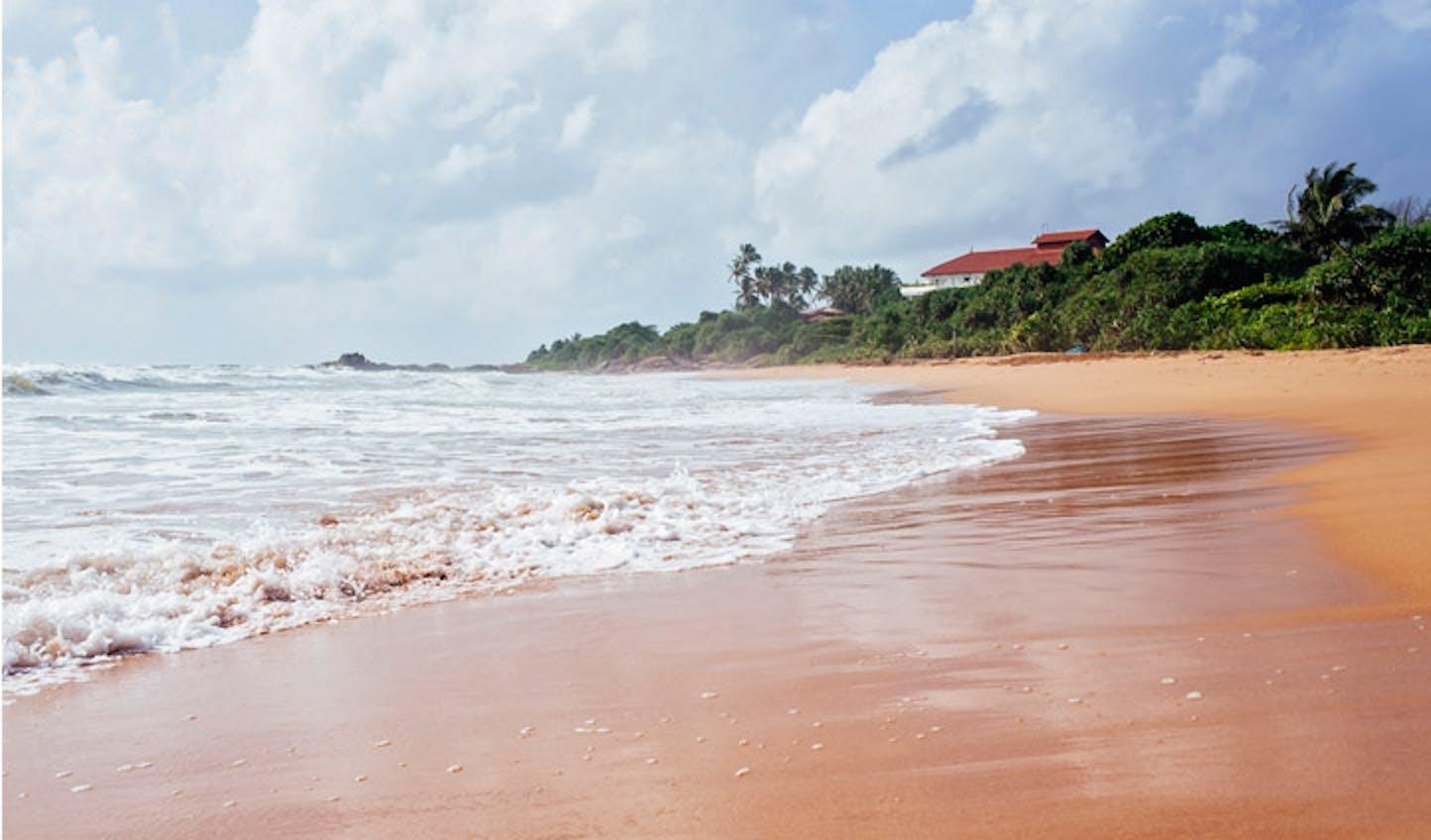 The golden sands of Sri Lanka