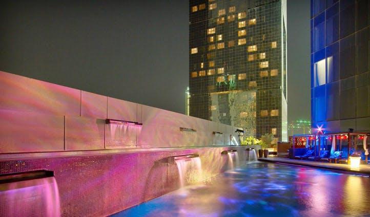 The W Hotel pool, Doha, Qatar