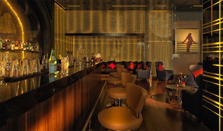The bar at Kempinski Doha
