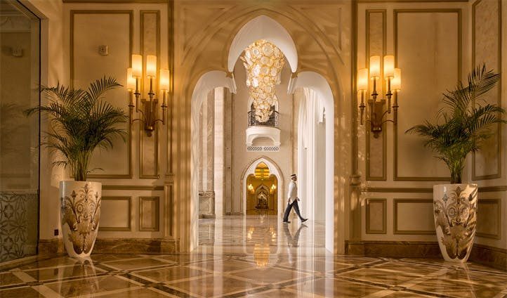 The lobby at The Kempinski, Doha, Qatar