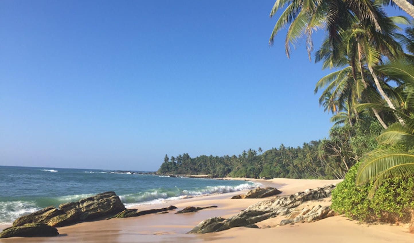 Beach views on Sri Lankas southern coast