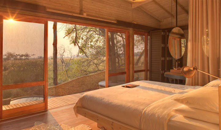 Bedroom, Sandibe Camp | Black Tomato