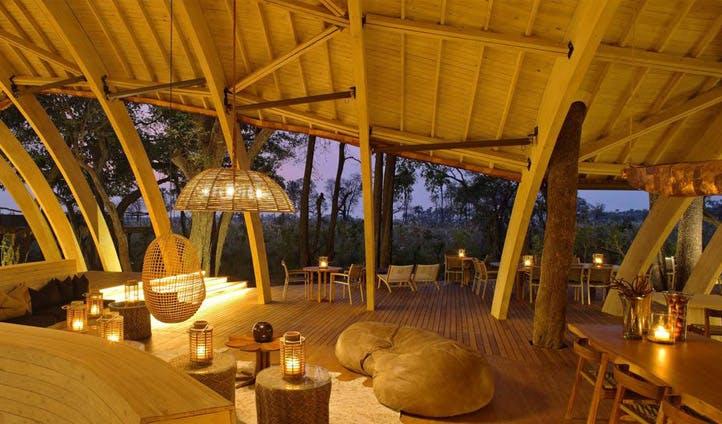 Dining area, Sandibe Camp | Black Tomato