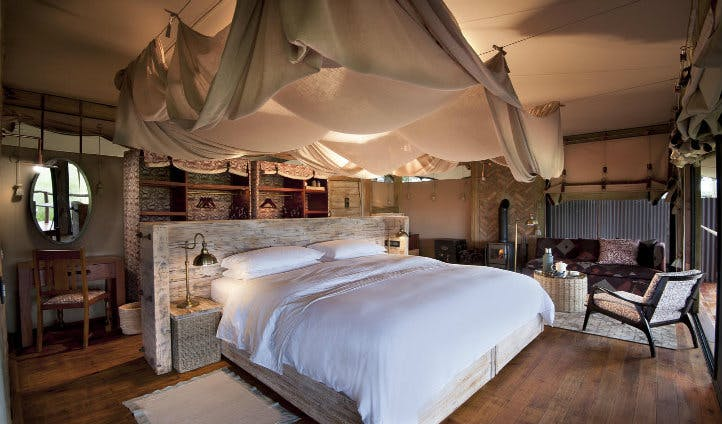 Bedroom at Somalisa | Black Tomato