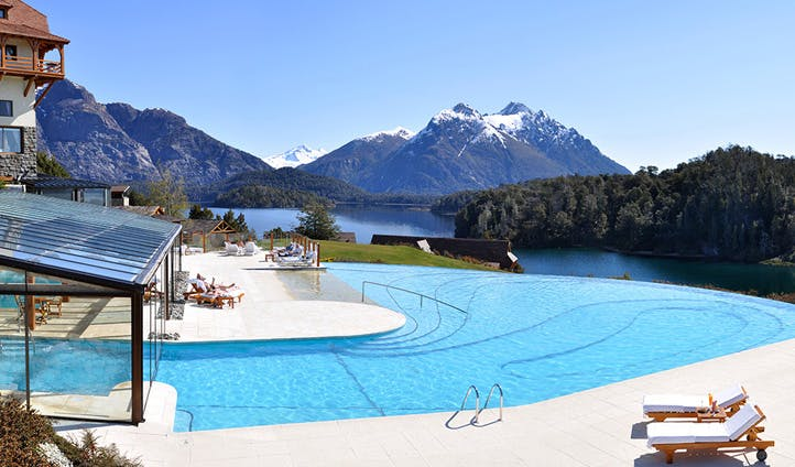The pool at Llao Llao Bariloche
