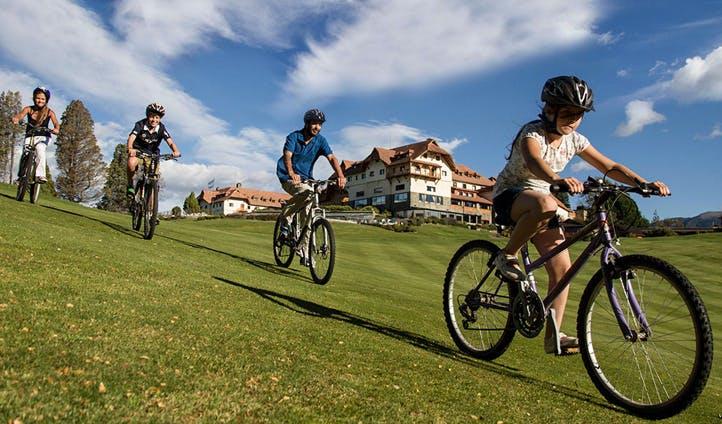 biking at Llao Llao