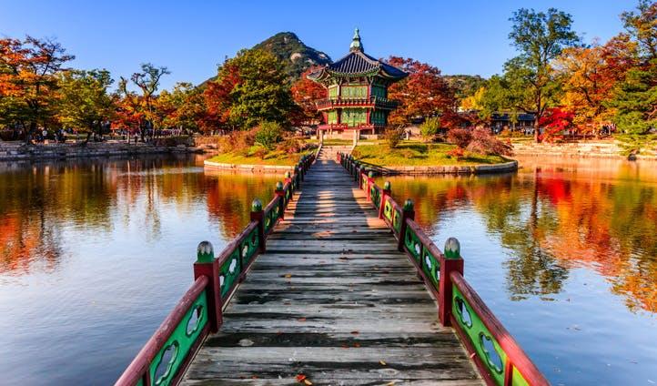 The beautiful Gyeongbokgung Palace