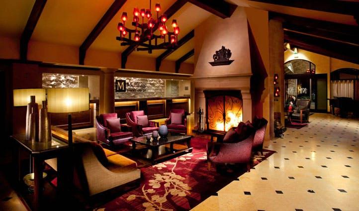 The lobby at The Meritage Resort & Spa, Napa Valley