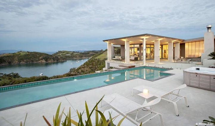 Enjoy stunning pool views
