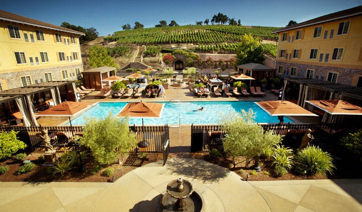 The pool at The Meritage Resort & Spa