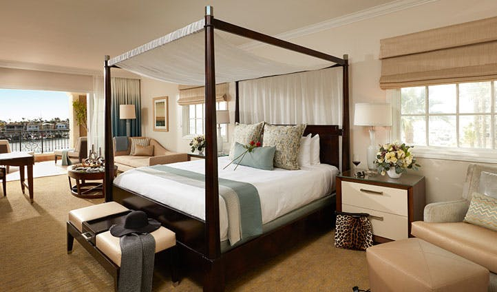 A suite at Balboa Bay Resort