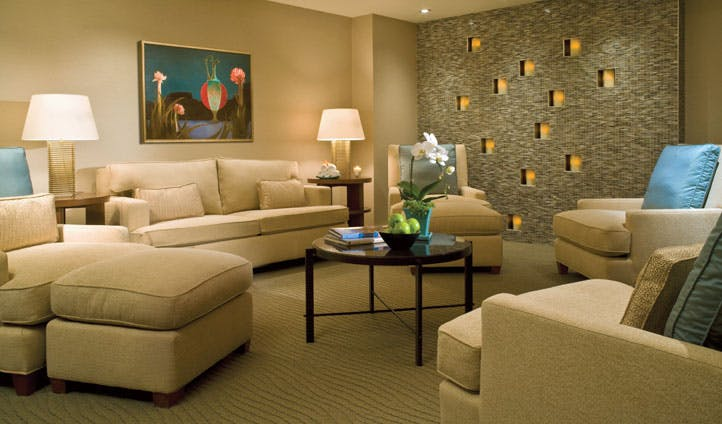 A living room at the Four Seasons, Seattle