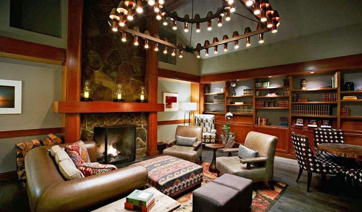 The lobby of Salish Lodge