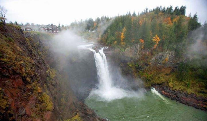 The waterfall below Salish Lodge