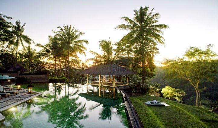 The pool at the Amandari Bali