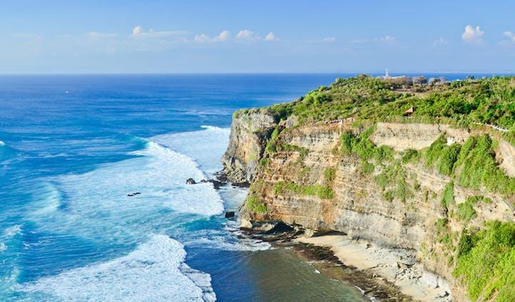 The views from the coast of Uluwatu