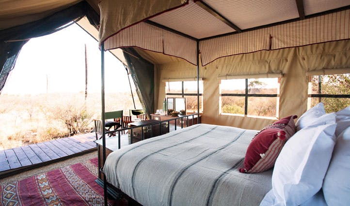 The stunning view from your tent in Botswana