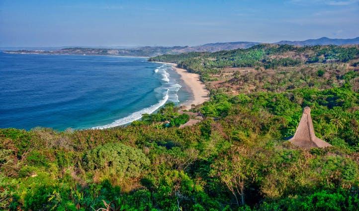 The coast of Sumba