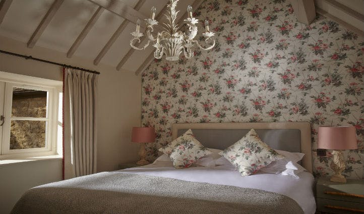 The bedroom of Rose Cottage at Dormy house
