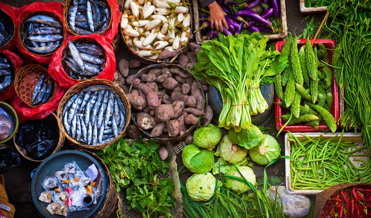 Market Fresh food in Indonesia