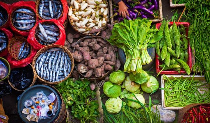Market Fresh food in Indonesia