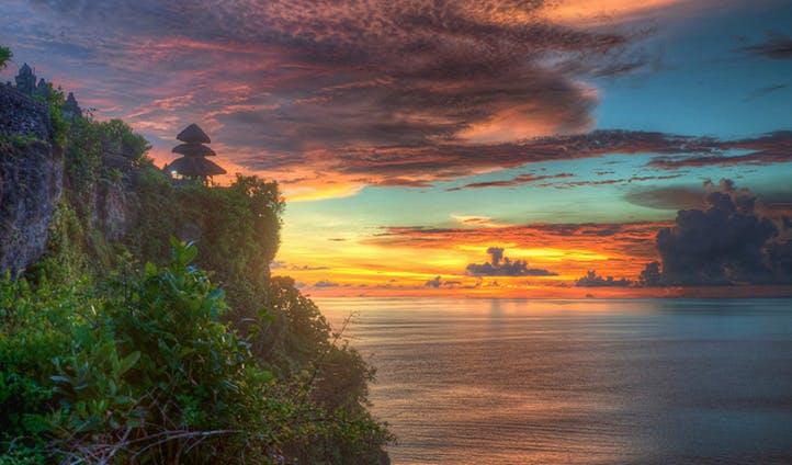 Sunset from Uluwatu Temple