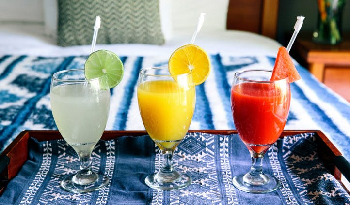 Fresh juices served cold