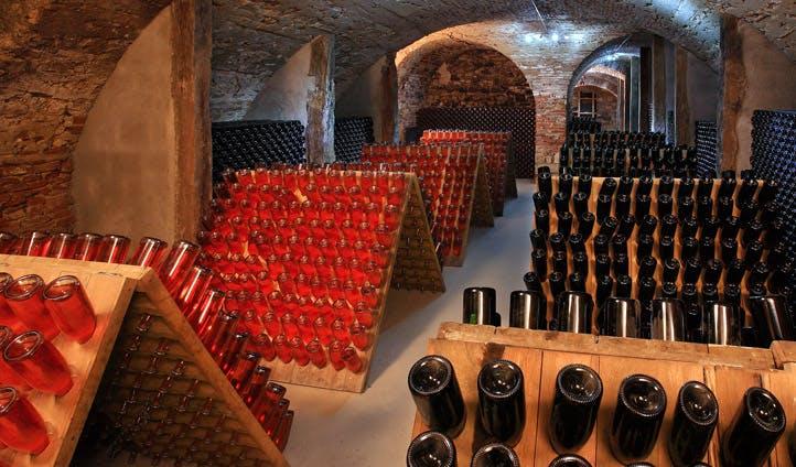 A wine cellar in Slovenia