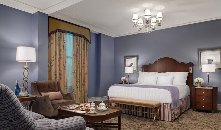 A classic bedroom at the Peabody