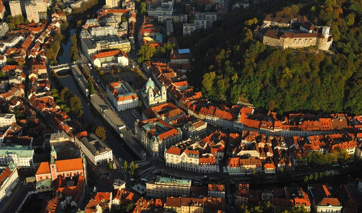 Ljubljana from above, Slovenia