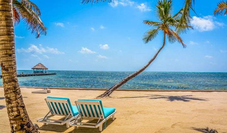 Paradise beach scenes in Belize