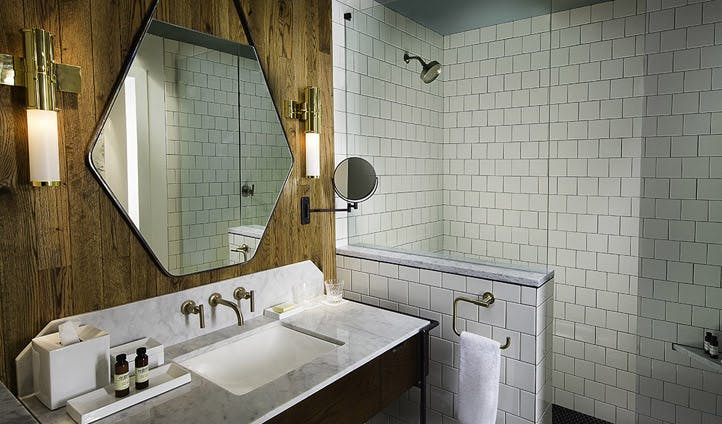Your large modern bathroom at The Thompson