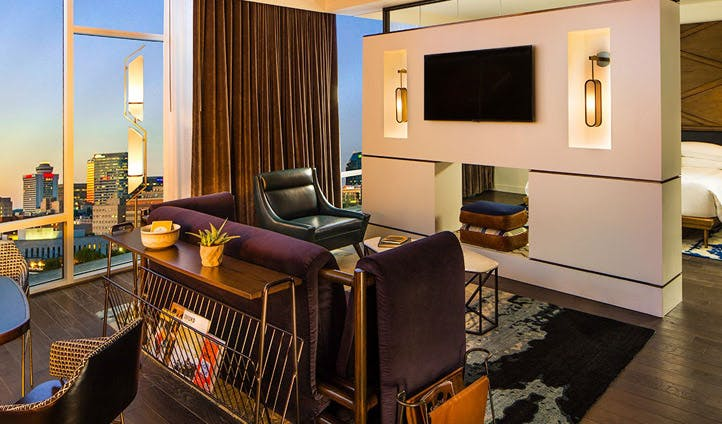 The modern decor at The Thompson Hotel