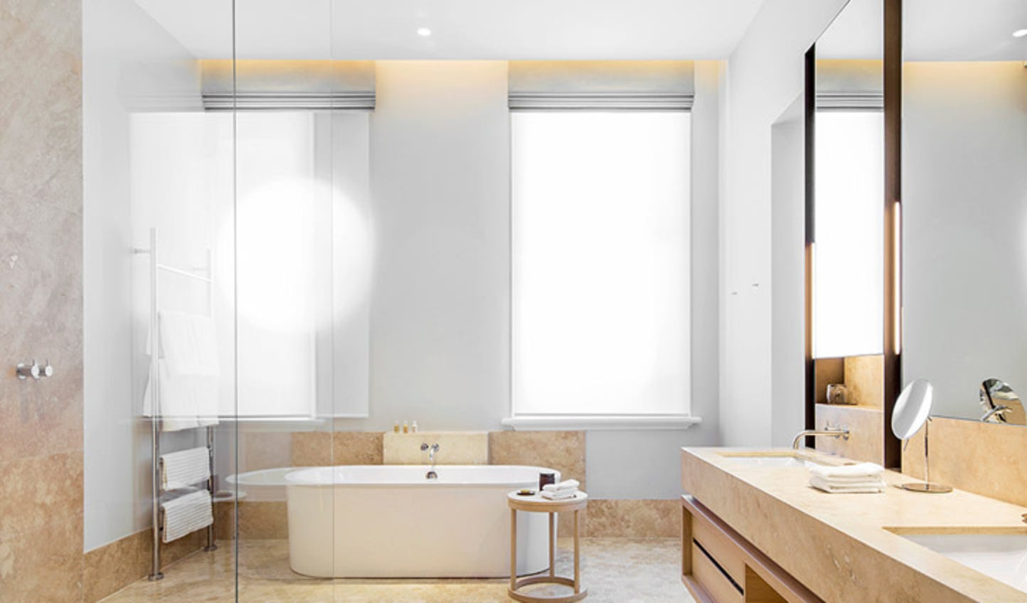 A modern bathroom at The Treasury