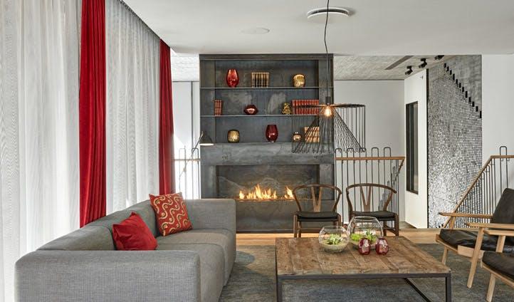 A minimalist yet cosy bedroom