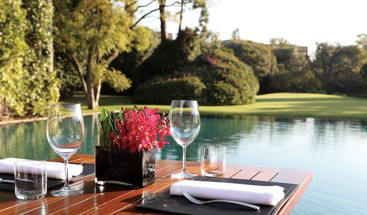 Enjoy a light lunch on the Terrace