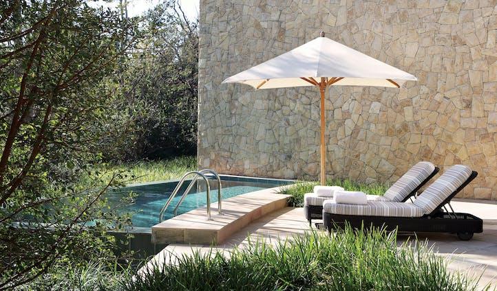 The pool at the Saxon Villas