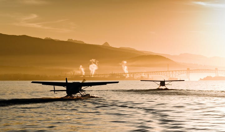 The float planes of Vancouver, Canada
