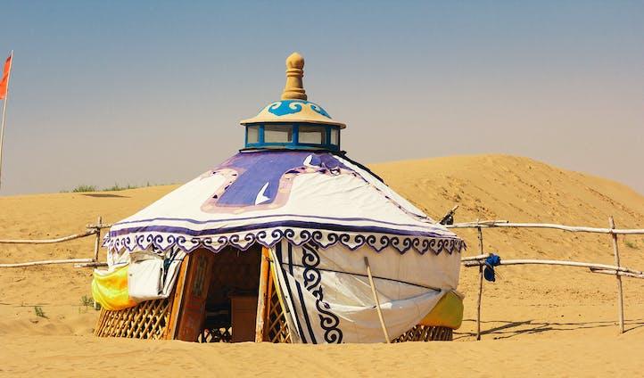 Mongolia Gobi Desert Yurt