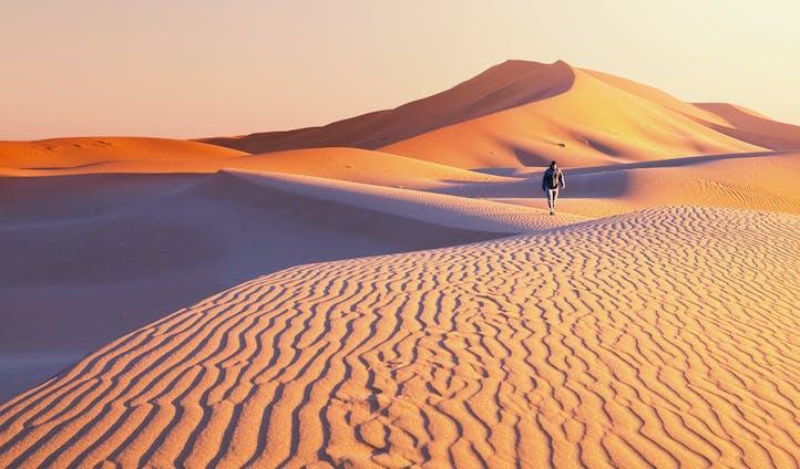 Hiking Gobi Desert Mongolia