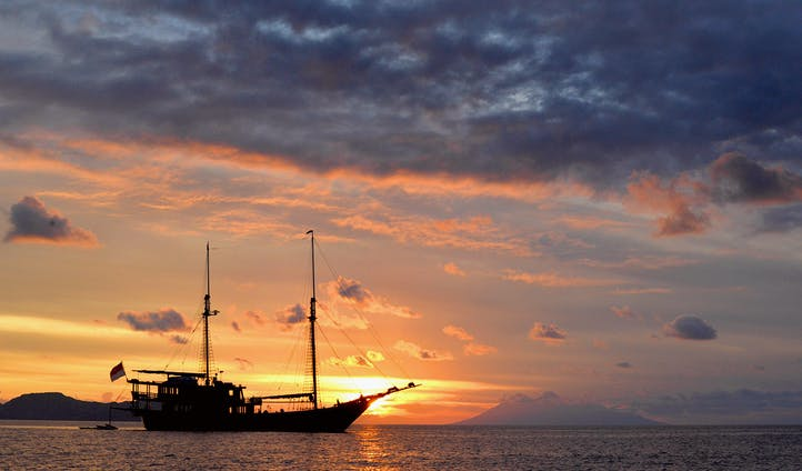 Sunset on Dunia Baru Yacht
