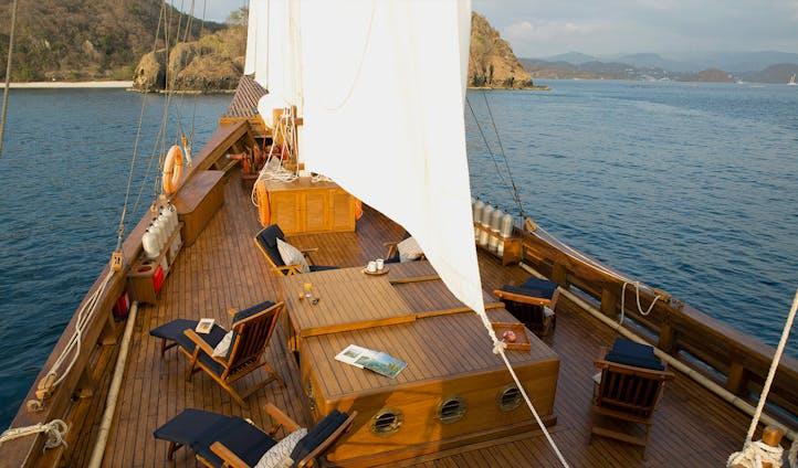 Deck on Yacht Raja Ampat