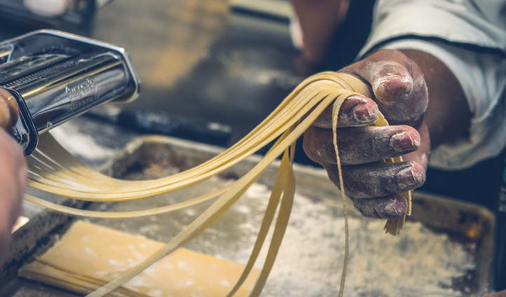Pasta making in Rome