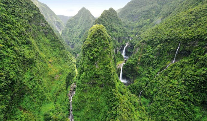 Hotels on the hills of Reunion Island
