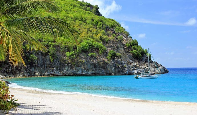Luxury hotels on the Caribbean beach