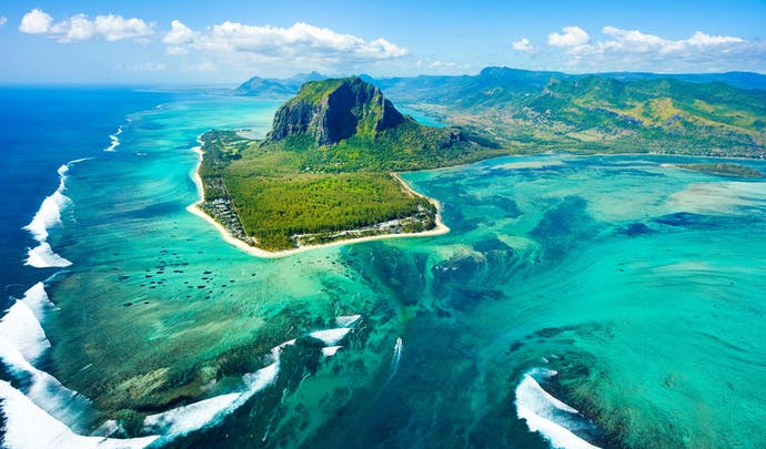 Stay by the coral in Mauritius