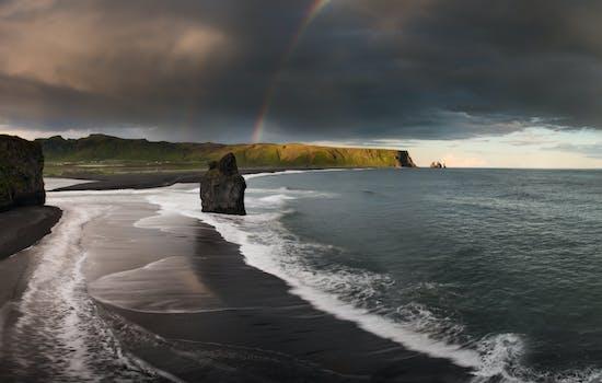 Iceland's black sand beaches