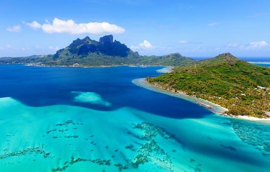 Sea surrounding Bora Bora